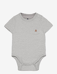 Baby 100% Organic Cotton Mix and Match Bodysuit - LIGHT HEATHER GREY B08