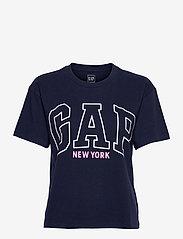 GAP - GAP EASY SS TEE - NYC - t-shirts - navy uniform - 0