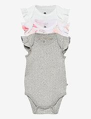 GAP - Baby Ruffle Bodysuit (3-Pack) - kurzärmelige - optic white - 0