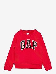 GAP - FR FT LOGO CREW - sweatshirts - pure red v2 - 0