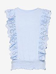 Kids Eyelet Shirt - BICOASTAL BLUE