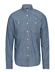 0250286c820 Icon Worker Shirt Medium Chambray (Medium Chambray) (45 €) - GAP ...