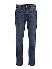 Slim Straight Jeans with GapFlex - WORN DARK