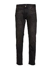 Slim Straight Jeans with GapFlex - WASHED BLACK