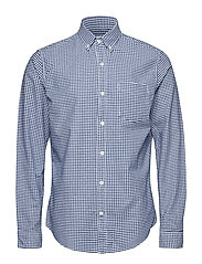 Lived-In Stretch Oxford Shirt - BLUE GINGHAM 685
