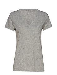 Vintage Wash V-Neck T-Shirt - HEATHER GREY