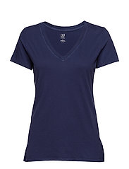 Vintage Wash V-Neck T-Shirt - NAVY UNIFORM