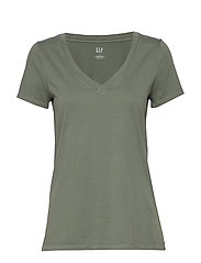 Vintage Wash V-Neck T-Shirt - PRESSED OLIVE