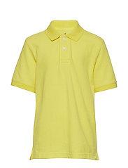 Kids Uniform Short Sleeve Polo Shirt - AURORA YELLOW