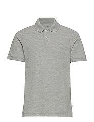Kids Uniform Short Sleeve Polo Shirt - LIGHT HEATHER GREY B10
