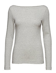 Modern Long Sleeve Boatneck T-Shirt - HEATHER GREY