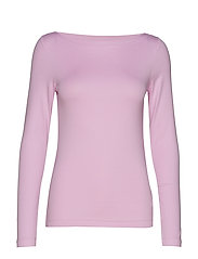Modern Long Sleeve Boatneck T-Shirt - LAVENDER PINK
