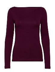 Modern Long Sleeve Boatneck T-Shirt - SECRET PLUM