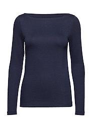 Modern Long Sleeve Boatneck T-Shirt - TRUE INDIGO 2