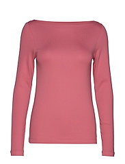 Modern Long Sleeve Boatneck T-Shirt - WILD ROSE