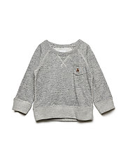 MARL CREW - GREY HEATHER B03