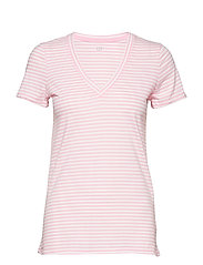 Vintage Wash Stripe V-Neck T-Shirt
