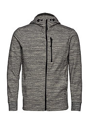 GapFit All-Elements Fleece Full-Zip Hoodie - GREY SPACEDYE