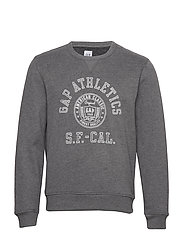 Vintage Soft Gap Logo Graphic Sweatshirt - B38 GREY HEATHER