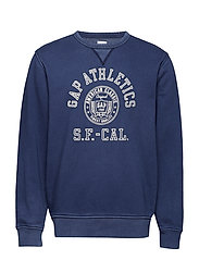 Vintage Soft Gap Logo Graphic Sweatshirt - MARINE BLUE 059