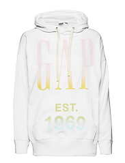 Vintage Soft Oversized Logo Pullover Hoodie - MILK 600 GLOBAL