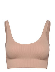 Seamless Ribbed Bralette - CAFE AU LAIT