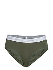 Logo Stretch Cotton Hipster - COOL OLIVE