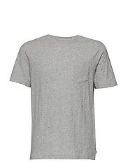 SS PKT TEE - LIGHT HEATHER GREY