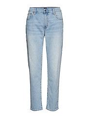 Mid Rise Girlfriend Jeans - LIGHT DESTROY