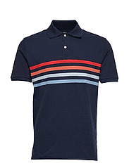 All Day Pique Polo Shirt - TPTRY NVY MLTI CST STR