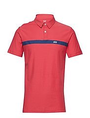 FRANCH XLS JERSEY LOGO POLO - WEATHERED RED