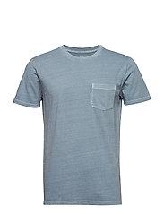 Vintage Wash Pocket T-Shirt - BLUE PEARL