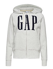 GAP EMB FZ HD - HEATHER GREY