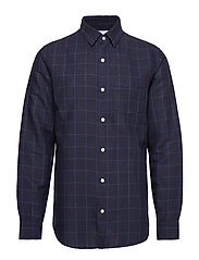 LS LINEN COTTON - NAVY PRINT