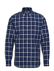 Lived-In Stretch Poplin Shirt - BLUE PLAID