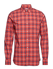 Lived-In Stretch Poplin Shirt - OVERSIZED PLAID PINK
