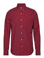 Lived-In Stretch Poplin Shirt - RED/ BLUE CHECK