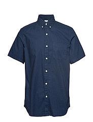 Lived-In Stretch Poplin Short Sleeve Shirt - BLUE DOT