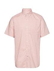 Lived-In Stretch Poplin Short Sleeve Shirt - PINK GEO