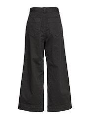 GAP - High Rise Wide-Leg Crop Khakis - bukser med brede ben - true black v2 - 1