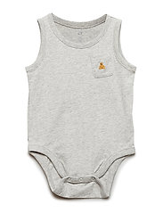 Baby Brannan Bear Tank Bodysuit - LIGHT HEATHER GREY B08