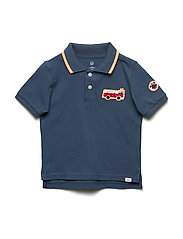 Toddler Embroidered Patch Polo T-Shirt - FROZEN LAKE