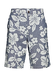 V-10 IN STRETCH CHAMBRAY LIVED IN SHORT - CHAMBRAY PRINT