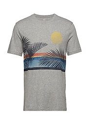 V-IH LEAF TEE - B10 GREY HEATHER