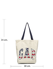 V-Canvas Logo Shopper Bags Shoppers Casual Shoppers Creme GAP