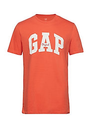 Gap Logo Crewneck T-Shirt - LETTERMEN ORANGE