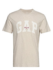 Gap Logo Crewneck T-Shirt - OATMEAL HEATHER B0210