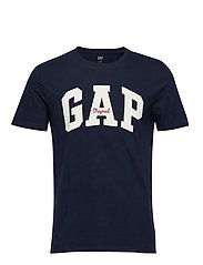 Gap Logo Crewneck T-Shirt - TAPESTRY NAVY