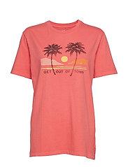 Graphic Short Sleeve Crewneck T-Shirt - WATERMELON ICE