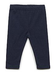 Toddler Print Capri Leggings in Stretch Jersey - BLUE GALAXY